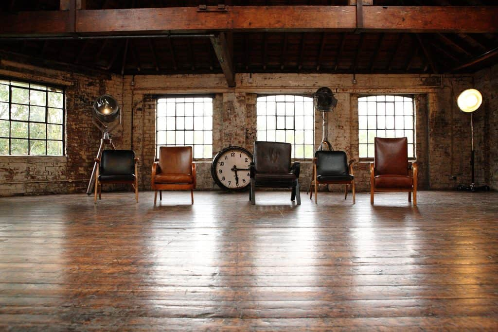 Angel investors chairs at the Dragons Den
