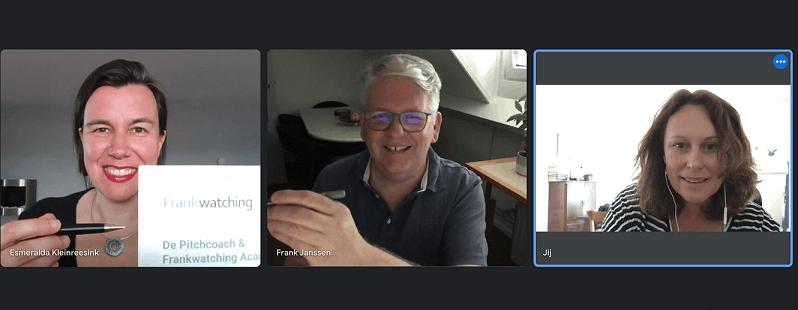 Ondertekening Masterclass Online overtuigen Frankwatching Frank Janssen en De Pitchcoach Esmeralda Kleinreesink
