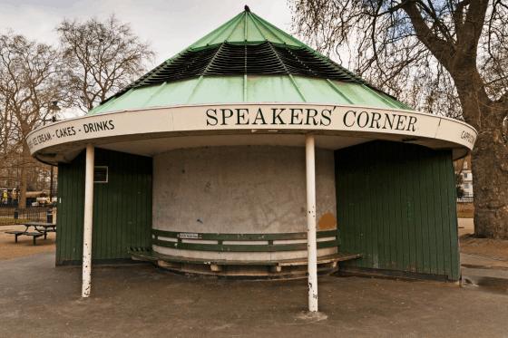 speakers corner hyde park